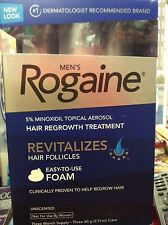 Rogaine Hair Regrowth for Men 5% Minoxidil Topical Foam 3 month , Fast Free Ship