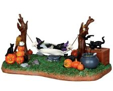 New Lemax Witches' R & R (Battery) Miniature Garden-Fairy Garden - Halloween