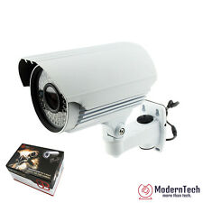 "HD Sony Sensor 1/3"" 1200TVL Bullet Security Camera Tube 72 IR LED CCTV OSD White"