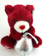 Hershey Hershey's Red Plush Bear Kisses Electronic Talks Big Kiss My Sweetie EUC
