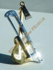 Pendentif Acier Inox Plaqué Or Violon Violoncelle Musique Instrument 9 Cz Strass