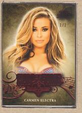 Carmen Electra 2014 Bench Warmer National Hall of Fame Red Foil 1/1