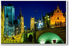 Ghent Belgium - travel european city -  POSTER