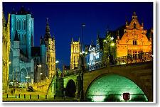 Ghent Belgium - travel european city -  POSTER