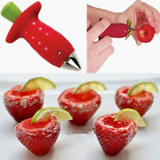 Strawberry Stem Leaves Huller Remover Removal Fruit Corer Kitchen Tool