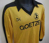 Vtg PUMA 80s Football Shirt BV BURSCHEID Trikot Retro Soccer Jersey Camiseta S