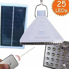 25LED Solar Powered Outdoor Camping Yard Lamp Remote Control Night Light White