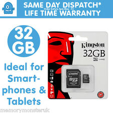 32GB Kingston MicroSD SDHC TF Memory Card for Kindle Fire HD - eReader - Tablet