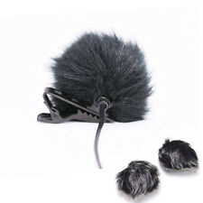 Black Fur Windscreen Windshield Wind Muff for Lapel  Microphone Mic HGX