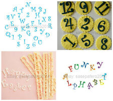 Funky upper case alphabet and number tappit cutter set 6 pcs. Cortador de letras