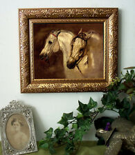 Master Lewis Arabian Horses Print Antique Style SMALL Framed 11X13 Pony