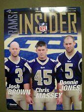 NFL INSIDER RAMS SEPTEMBER 3, 2009 MAGAZINE