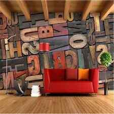 Embossed 3D Stereoscopic Wallpaper Alphabet  Mural Roll Modern Luxury Background