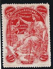 Vignette  ST Etienne pour l' Exposition internationale de 1904- Rouge