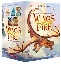 Wings of Fire Boxset, Books 1-5 by Tui T. Sutherland (Paperback) Dragons NEW