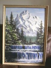 Handmade Pixel Mosaic Art Home Decor Snow Mountain Nature