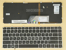 For HP ENVY 4-1260er 4-1272er 4-1020ss 4-1050er Keyboard Russian backlit Silver