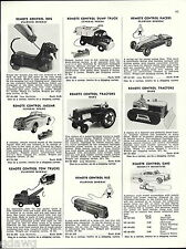 1956 ADVERT General Molds Remote Control Toy Jaguar Cadillac Car Marx Tractor