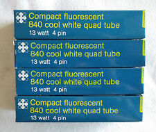DEAL OF 3 Compact Fluorescent Lamps 13 Watt Cool White 4 PIN QUAD TUBE +1 FREE