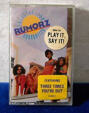 Rumorz Satisfaction Guaranteed 11 track 1991 PROMO CASSETTE TAPE NEW promotional