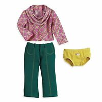 American Girl IVY MEET OUTFIT Dress for Dolls 70's Julie Pants Asian New