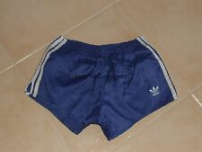 Vintage Shorts Adidas (M/D5) Blue White Lines Running Sprinter West Germany