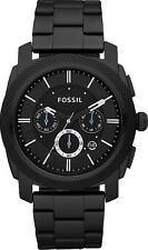 Fossil Watch * FS4552 Machine Knurled Chrono Black Stainless Steel COD PayPal