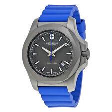 Victorinox Swiss Army I.N.O.X. Grey Dial Blue Rubber Mens Watch 241759