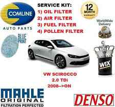 FOR VW SCIROCCO 2.0 TDi 2008- ON 140BHP OIL AIR FUEL POLLEN FILTER SERVICE KIT