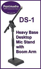 Post Audio DS-1 Heavy Duty Studio Bass Drum or Desk Microphone Stand with Boom