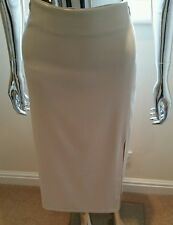 Used Ladies Midi Skirt By Canvas In Cream Size 18