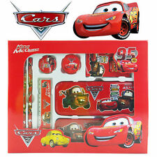 8-1 DISNEY CARS MCQUEEN TOY KID CHILDREN SCHOOL STATIONERY SET METAL PENCIL CASE