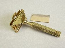 Antique Brass 1912 style GEM SE Safety Razor w NEW Blade