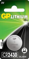 CR2430 3 VOLTS GP 2 PACKS EXPIRY 2024 LITHIUM BATTERY