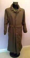 HUGO BOSS KHAKI GREEN TRENCH COAT SIZE L/XL
