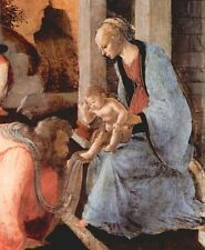 A3 Box Canvas Adoration of the Magi London detail 1 Botticelli
