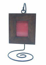 Small teak picture frame and holder cadre photo teck reclaimed Teak-Fotorahmen