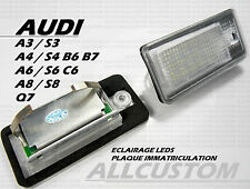 AUDI A6 RS6 4F 2008-10 LEDS LED SMD ECLAIRAGE BLANC XENON PLAQUE IMMATRICULATION