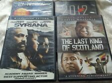 LOT OF 4 ACTION MOVIES DVDS 2012, SYRIANA, WATERWORLD, THE LAST KING OF SCOTLAND