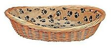 Trixie Wicker Dog / Puppy Bed Cushion Lining With Pawprints Foam Padding. 50cm