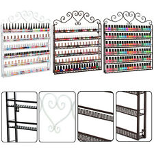 6 Tier Metal Nail Polish Wall Rack Mounted Organizer Display Storage Shelf Holde