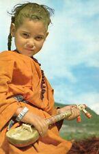 FILETTE AU GUMBRI MAROC IMAGE 1956 OLD PRINT