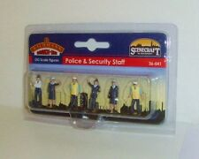 Bachmann Scenecraft 36-041 Police & Security Staff (00) Figures