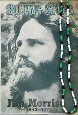"30""Jim Morrison Style Handmade Bead Necklace Orig. Green White Black - the Doors"