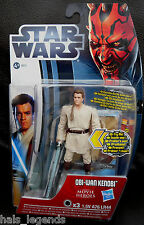 STAR WARS MOVIE HEROES JEDI OBI-WAN KENOBI NUOVA! W / light-up famosa spada laser. EWAN