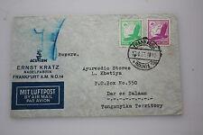 Dt.Reich - Luftpost Frankfurt auf Tansania / Dar es Salaam -Michel Nr.529 + 534