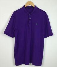 Vintage Retro años 90 Ralph Lauren Purple Polo Camisa Top Casual Urbano Reino Unido L