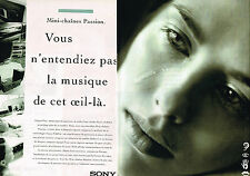 PUBLICITE ADVERTISING 045  1995  SONY  la mini-chaine hi-fi  ( 2pages)