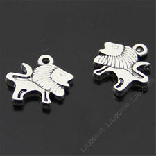 12pc Retro Tibetan Silver Lion Animal Pendant Charms Beads Findings B417P