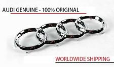 Audi A4 S4 A5 S5 Rings Badge Front - Chrome GENUINE 8T0853605
